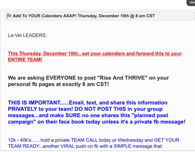 Is Le Vel Thrive A Scam